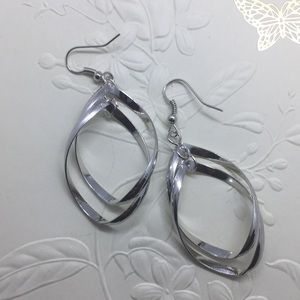Jewelry - Intriguing Silver Plated Dangle earrings